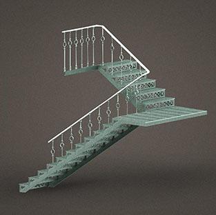 Чугунные маршевые лестницы