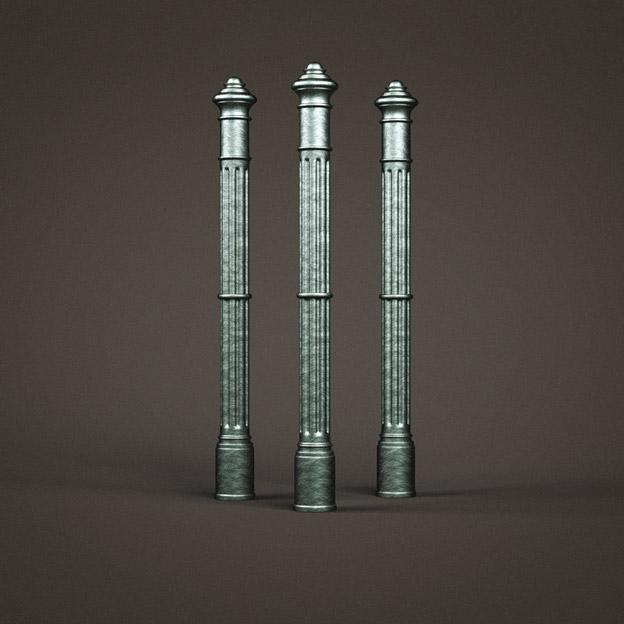 Заходные литые столбы (перильные, лестничные)
